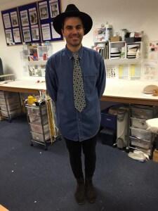 Daniel's bespoke tie