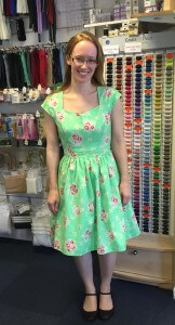 Ruth modelling her fully lined fifties inspired frock