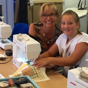 Mum and me sewing together!