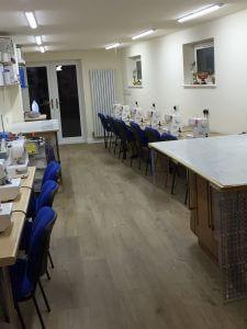 Custom built sewing studio