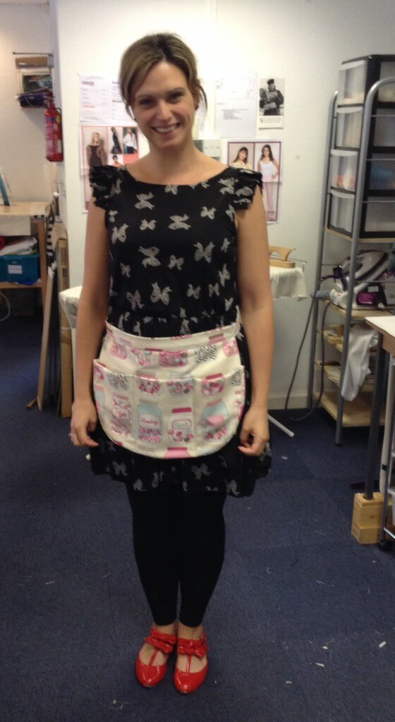 Gill's first sewing project