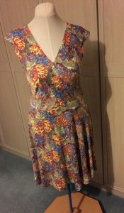 Liberty print jersey wrap dress