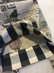 checked lining and interior pockets