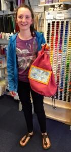 Evie's duffle bag
